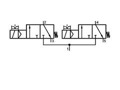 Клапан електромагнітний 2x3/2