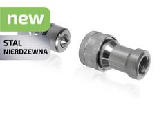 Швидкозніми гідравлічні ISO 7241-1 B з нержавіючої сталі