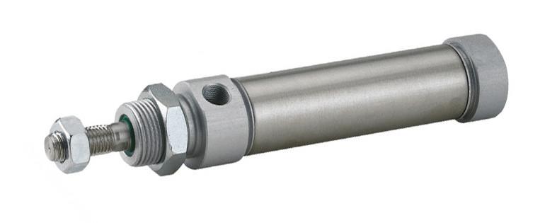 Пневмоциліндр DNMA з одностороннім штоком (підключення з тилу)