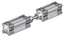 Пневмоциліндр NWT CNF зі спільним штоком