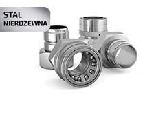Швидкозніми та штекери нержавіюча сталь, повнопрохідні DN38