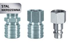 Швидкознім та штекер DN 7,2 нержавіюча сталь