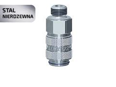 Швидкознім двосторонній з клапаном DN 5 з нержавіючої сталі