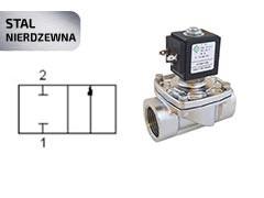 Клапан електромагнітний з нержавіючої сталі 2/2 (відкрито/закрито)