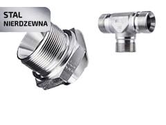 Armatura hydrauliczna gwintowana - adaptery 60°