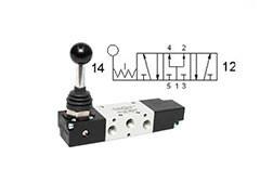 Клапан механічний, управління важелем 5/3 CP бістабільний
