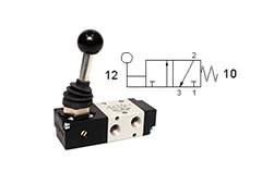 Клапан механічний, управління важелем 3/2 моностабільний
