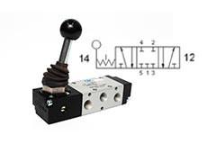 Клапан механічний, управління важелем 5/3 CC бістабільний