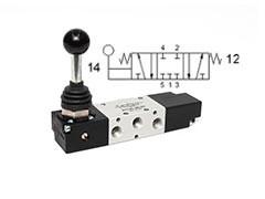 Клапан механічний, управління важелем 5/3 CC моностабільний