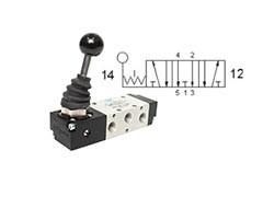 Клапан механічний, управління важелем 5/3 CO бістабільний