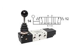 Клапан механічний, управління важелем 5/3 CO моностабільний