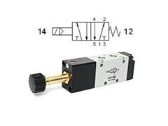 Клапан електромагнітний 5/2 моностабільний