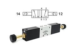 Клапан електромагнітний 5/2 бістабільний