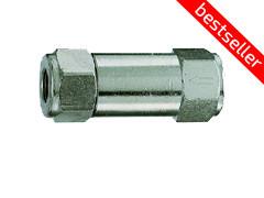 Клапан зворотний - нікельована латунь