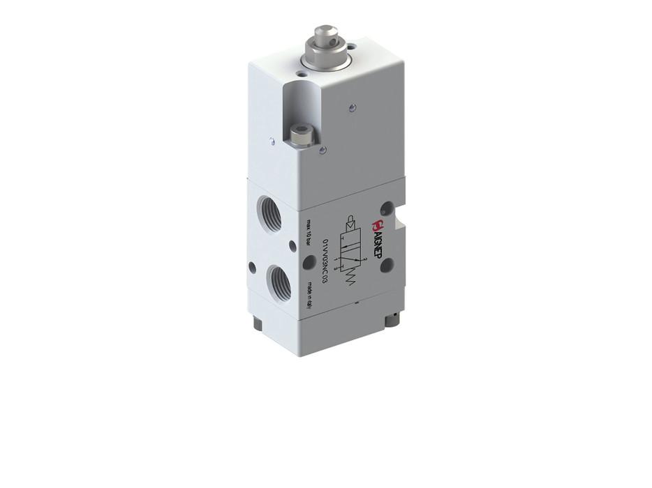 Клапан механічний управління кнопкою